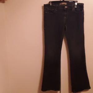 OLD NAVY BLACK JEANS ULTRA LOW WAIST BOOTCUT 8R